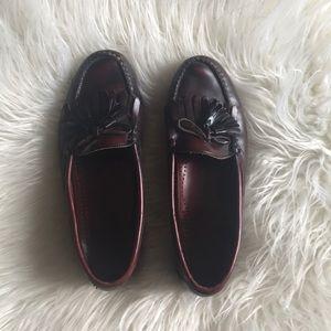 Vintage Cole Hann men's cherry brown tassel loafer